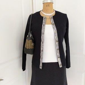 Worth Black & White Sweater Set Size Med